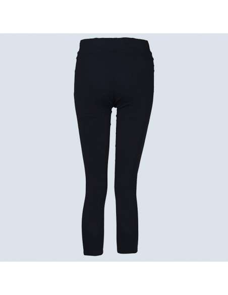Black Ripped Leggings with Pockets (Back)