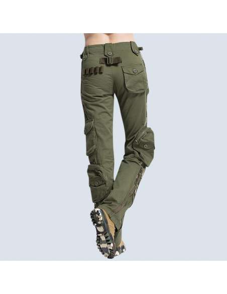 6-Pocket Army Cargo Pants (Back View)
