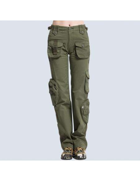 6-Pocket Army Cargo Pants (Front View)
