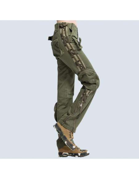 6-Pocket Army Cargo Pants (Side View)