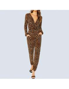 Leopard Jumpsuit with Pockets