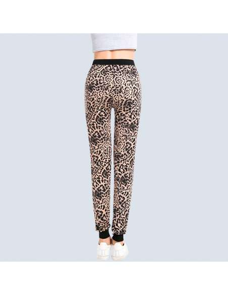 Women's Leopard Joggers with Pockets (Back)