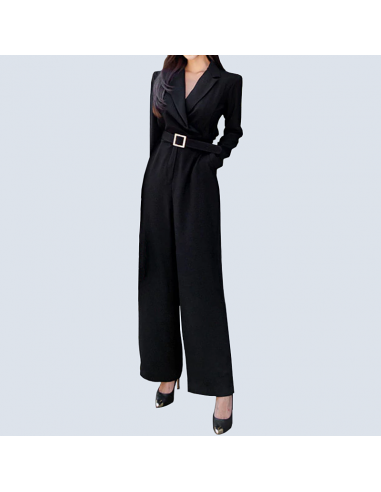 Women's Black Formal Jumpsuit with Pockets