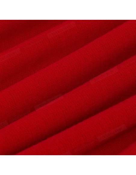 Red Pencil Dress with Pockets (Fabric Closeup)